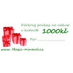 Poukaz na nákup v hodnotě 1000 kč