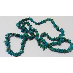 Sekaný náhrdelník 90cm - Tyrkenit