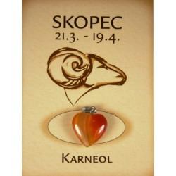 skopec - karneol srdce