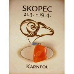 skopec - karneol valounek