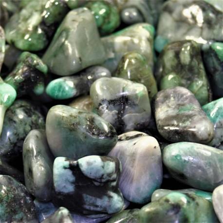 Smaragd tromlovaný (leštěný) valounek