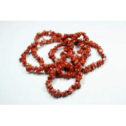 Sekaný náhrdelník 90cm - Jaspis červený