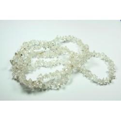 Sekaný náhrdelník 90cm - Křišťál