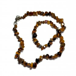 Sekaný náhrdelník 45cm - Tygří oko