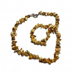 Sekaný náhrdelník 45cm - jaspis obrázkový