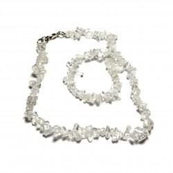 Sekaný náhrdelník 45cm - Křišťál