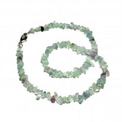 Sekaný náhrdelník 45cm - Fluorit
