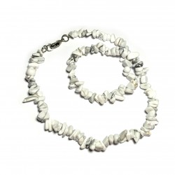 Sekaný náhrdelník 45cm - Magnezit