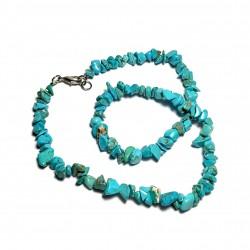 Sekaný náhrdelník 45cm - Tyrkenit