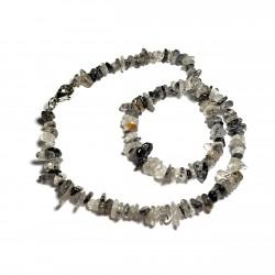 Sekaný náhrdelník 45cm - Křišťál s turmalínem