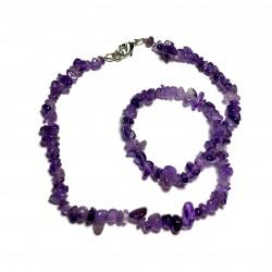 Sekaný náhrdelník 45cm - Ametyst