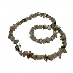 Sekaný náhrdelník 45cm - Labradorit