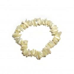 Sekaný náramek na gumičce - perleť