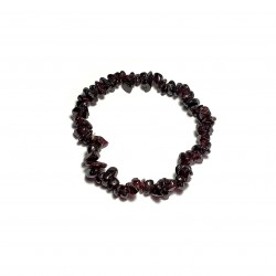 Sekaný náramek na gumičce - Granát