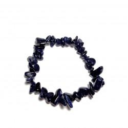 Sekaný náramek na gumičce - Modro-zlatý Avanturín