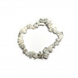 Sekaný náramek na gumičce - Magnezit